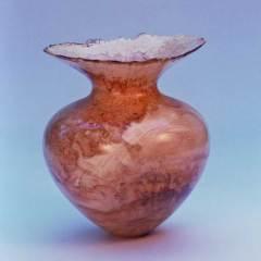 """Vase, 8x9"""", box elder (2003)"""