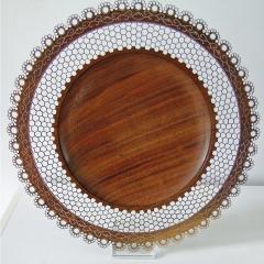 Pierced Black Walnut Platter (2010)