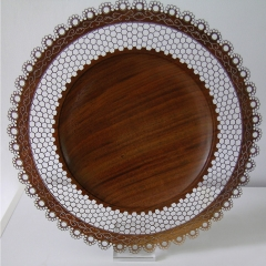 Pierced Black Walnut Platter (2010)