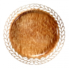 Pierced Quilted Maple Platter (2007)